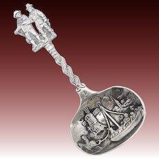 Late 19th Century Dutch Silver Souvenir Spoon