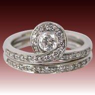 18K White Gold Diamond Snake variation Ring