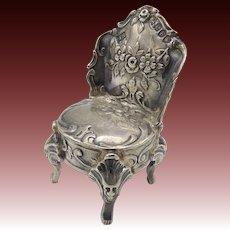 Dutch Sterling Silver Miniature Chair