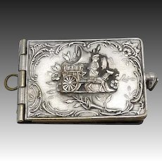 Silver-Plated Brass Notebook Charm