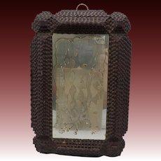 Frisian Tramp Art Framed Mirror