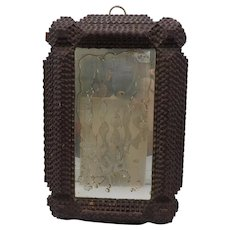 Frisian Tramp Art Framed Mirror