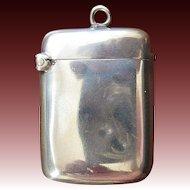 Joseph Gloster English Sterling Silver Match Safe or Vesta