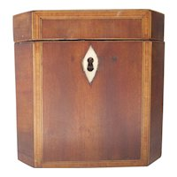 Amazing Georgian Satin Wood Tea Caddy