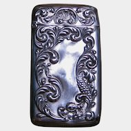 Gilbert Sterling Silver Match Safe with Sea Creature