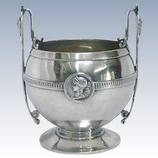 Classical Gorham Medallion Coin Silver Open Sugar Bowl