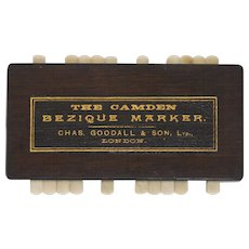 The Camden Bezique Marker by Chas Goodall & Son