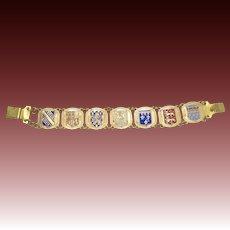 Vintage Enamel Souvenir Bracelet from France