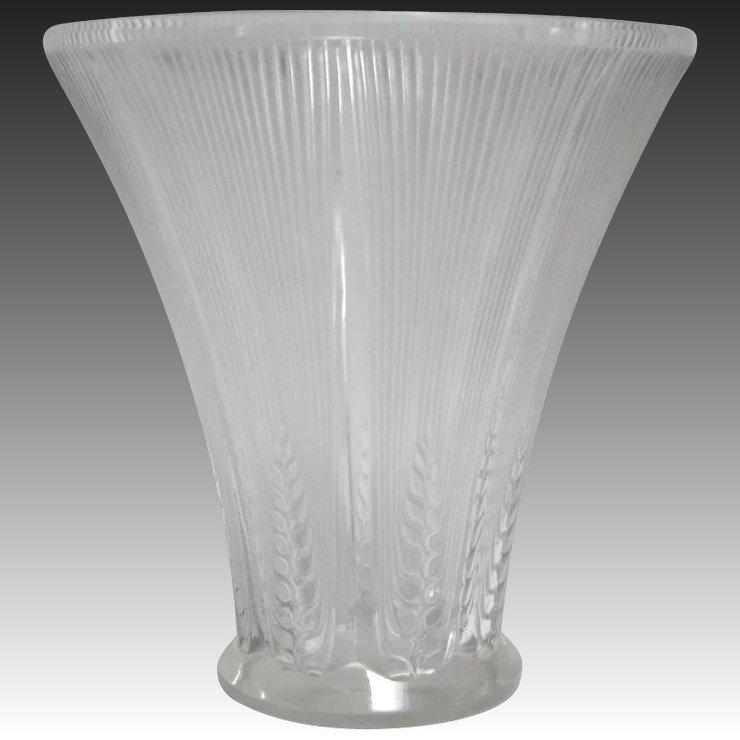 R Lalique Epis Glass Vase Kirstens Corner Ruby Lane