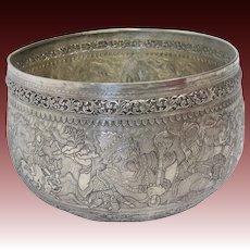 Handmade Burmese 950 Silver Bowl