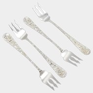 Set of Four Stieff Rose Sterling Silver Cocktail Forks