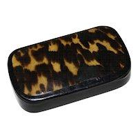 Hand Painted Faux Tortoiseshell Laquer Snuff Box