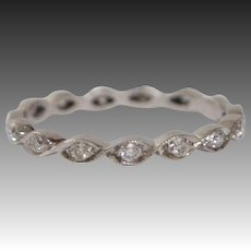 18kt White Gold and Diamond Eternity Band