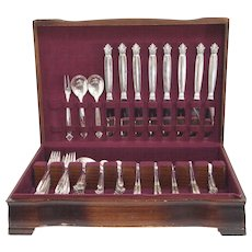 Acanthus Sterling Silver Flatware Set for Eight by Georg Jensen - Red Tag Sale Item