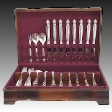 Acanthus Sterling Silver Flatware Set for Eight by Georg Jensen
