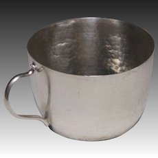 Hand Hammered Sterling Silver Baby Cup from Burma