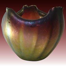 Rindskopf Pepita Grenada Verde Art Glass Bowl
