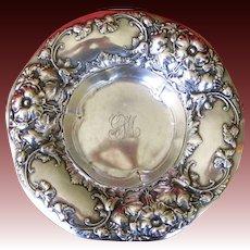 Gorham Sterling Silver Floral Nut Dish Bowl