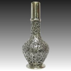 Japanese 4 Chamber Glass and 950 Silver Spirit Decanter