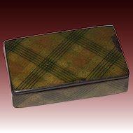 Charming Tartan Ware Plaid Snuff Box, circa 1850