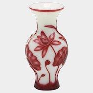 Early 20th Century Lotus Flower Chinese Peking Vase
