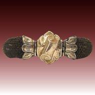 10K Gold Woven Hair Memory Bracelet