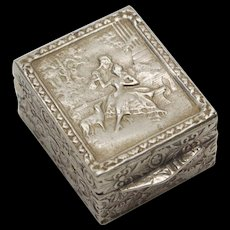 Tiny Silver Box from Italy, circa 1930 - Red Tag Sale Item
