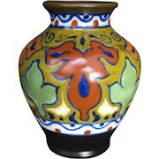 Gouda Small Art Pottery Vase in the Beek Pattern