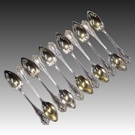 Set of 11 Dominick & Haff Mazarin Sterling Silver Orange Spoons