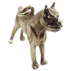 14K Gold Vintage Boxer Dog Charm