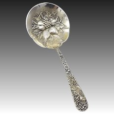 Kirk & Son Sterling Silver Repousse Berry Spoon