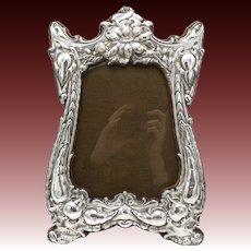 Art Nouveau Sterling Silver Picture Frame, circa 1905