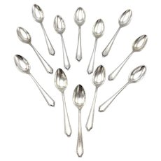 Set of 12 Sterling Silver Demitasse Spoons by Towle