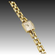 14KT Gold Hamilton Wrist Watch for Tiffany & Co.