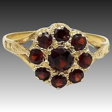 Victorian 18kt Gold and Garnet Ring