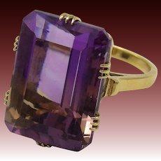 Vintage 14K Gold & 23CT Ametrine Ring