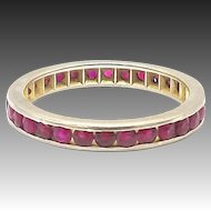 14kt White Gold and Ruby Eternity Band