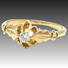 Victorian 14kt Gold and Diamond Ring