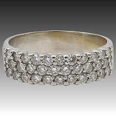 14kt White Gold and Micro Pave Diamond Ring