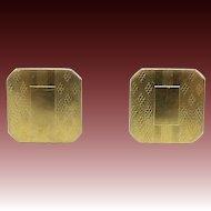 10kt Gold Top Snap Cufflinks
