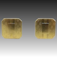 10kt Gold Top Snap Cufflinks