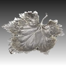 Buccellati Sterling Silver Small Maple Leaf Dish