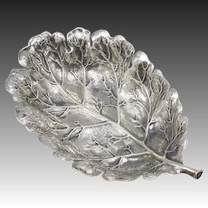 Buccellati Sterling Silver Small Oak Leaf Dish