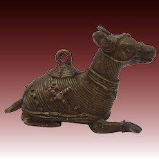 Vintage Tibetan Bronze Donkey Amulet