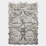 Rare 19th Century Indian Silver Calling Card Case