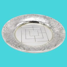 1890's Shiebler Sterling Silver Butter Pat Plate