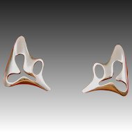 Abstract Georg Jensen Earrings designed by Henning Koppel #119