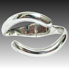 Sigifrido Pineda Taxco Mexican Sterling Silver Hinged Cuff Bracelet