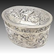 Sterling Silver Canal Scene Box from Amsterdam, Circa 1919