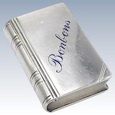 Georg Adam Anton Scheid Book Shaped Silver and Enamal Pill Box